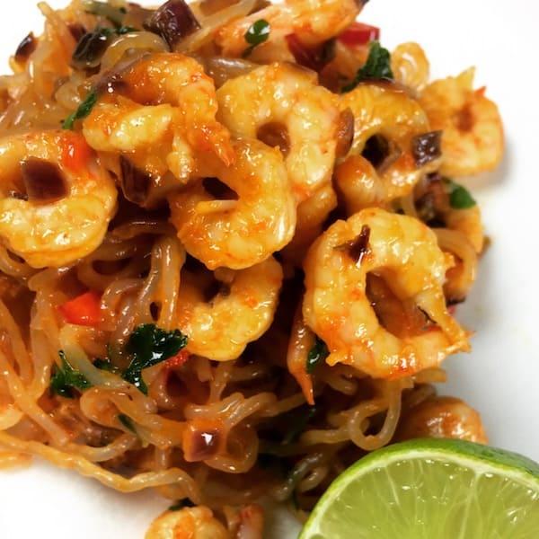 Räkor med PurePasta Spaghetti och chili